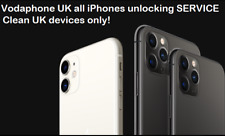 Vodafone UK all iPhone 11 11 PRO XS X 8 7 unlocking service only IMEI required