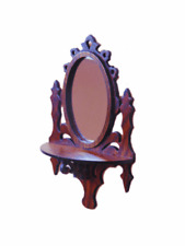 Dollhouse Miniature 1:12 Scale Rosewood Mirror - Artist Made