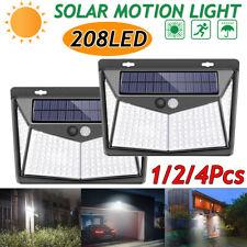 208LED Solar Powered Light Outdoor Motion PIR Sensor Wall Light Garden Yard Lamp