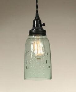 Half Gallon Mason JAR Hanging light -Plug in