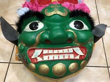 Green Traditional Lion Dance Dragon Costume head with 9' tail