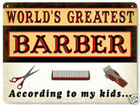 BARBER SHOP hair salon VINTAGE style METAL sign funny wall decor PLAQUE 490