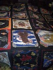 Harley Davidson Bandana Handcrafted Handmade Quilt Comforter Blanket Queen