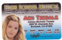 Ash Tisdale star of Walt Disney 's High School Musical novelty Drivers License