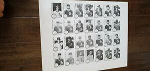 1984 CHONG MODESTO ATHLETICS A'S 28 CARD UNCUT SHEET SET JOSE CANSECO ROOKIE