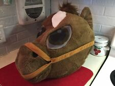 Horse with Reins Maskimal Oversized Plush Animal Head Colt Pony Mascot NWOT