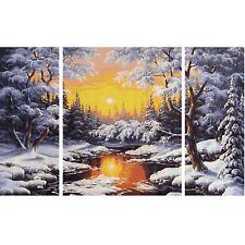 Ein Wintertraum Schipper 609260786 Malen nach Zahlen Triptychon Winterlandschaft