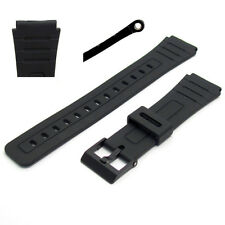 Replacement Watch Strap 18mm Black Resin to fit Casio F91, F105, F94