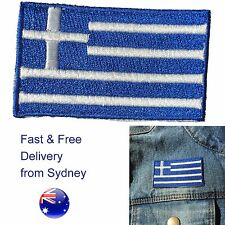 Greece flag iron on patch - Greek Hellenic Republic - Hellas Ελλάς iron-on flags