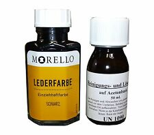 Morello Lederfarbe für Glattleder 40 ml Schwarz