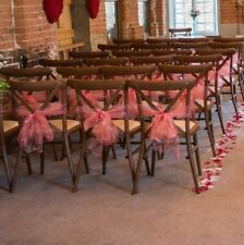 X 55 WEDDING ORGANZA CHAIR BOW SASH Anniversary Party Reception Decoration