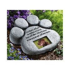 Pet Memorial Stones Plaques Grave Markers Tombstone Headstones Dog Paw Engraved