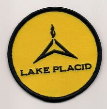 Lake Placid NY Souvenir Olympic Town Patch (Yellow)