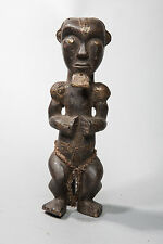 Fang, Seated Male Reliquary Statue, Central Gabon, African Tribal Art, Sculpture