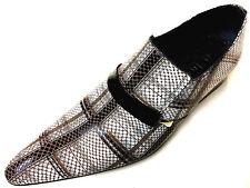 Chelsy Insolite cuir chaussures homme beige brun à carreaux design MOCASSINS 45