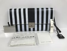 "NWT Marc Jacobs Black & White ""The Skunk"" Clutch with Lock & Key & Dust Cover"