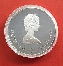 """CANADA 10 DOLLARS J.O ( JEUX OLYMPIQUES ) 1976 """" ZEUS """" en ARGENT - UNC / FDC -"""