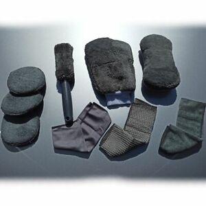 Autopflege Set 9 Teile Microfaser Pad Felgenbürste Waschhandschuh Schwamm Tücher