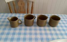 J & G Meakin Stoneware Pottery Cups & Saucers