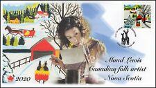 CA20-038, 2020, Maud Lewis, Pictorial Postmark, FDC, Christmas, Folk Art
