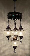 Turkish Ottoman Glass Mosaic Hanging Lamp Ceiling Light Chandeliers Free Bulbs