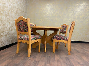 Voglauer Anno 1800 Cottage Antique Dining Set Area Table Chairs Solid