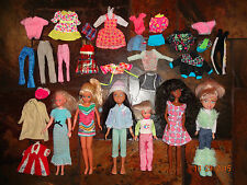 LOT of Teen Barbie Dolls Skipper Clothes Outfits Pants & Shirts Vintage +