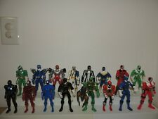 Power Rangers Action Figures Blue Green Red Black Lot of sixteen!