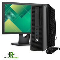 "HP SFF 600 G1 i5 Desktop 19"" Display Computer 256GB SSD 8GB RAM Win 10 PRO PC"
