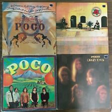 4 POCO Vinyl LP Lot- S/T CRAZY EYES ROSE OF CIMARRON VERY BEST OF JIM MESSINA