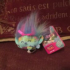 "OFFICIAL DREAMWORKS MINI TROLL HARPER 3"" SOFT TOY PLUSH NEW TAGS"