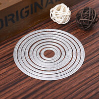 Oval 7x Set Metal Cutting Dies Stencil For Scrapbooking Paper Cards Decor  New.