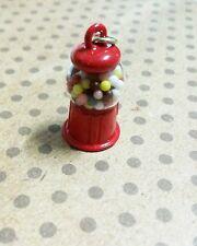 Gumball Machine Charm Pendant Miniature Gumball Machine Retro Red