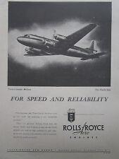 5/1947 PUB ROLLS-ROYCE MERLIN TRANS CANADA AIR LINES TCA CANADAIR NORTH STAR AD