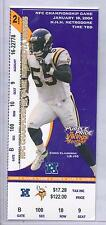 Minnesota Vikings Phantom NFC Championship Game Full Ticket Chris Claiborne