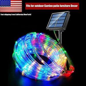 100Led 39ft Solar Rope String Strip Lights Outdoor Garden Fence Lamp Waterproof