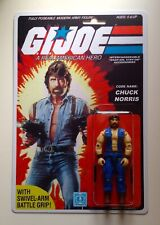 Custom made Chuck Norris 3 3/4 GI Joe Vintage Style ARAH Action Figure MOC