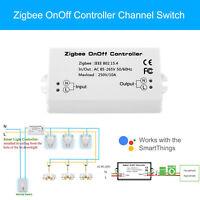 Zigbee OnOff Controller Channel Switch work for Amazon Alexa Samsung SmartThings