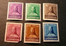 Luxembourg Stamp Scott# B67-B72 Charles I 1935  MH L262