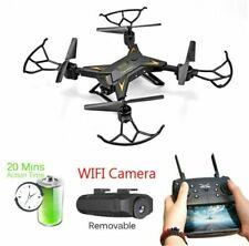 Faltbar WIFI FPV Drohne mit 4K HD Kamera Quadrocopter RC Drone mit 2 Batterien