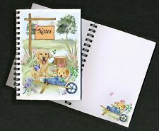 Labrador Retriever Dog Puppies Notebook/Notepad + small image on every page