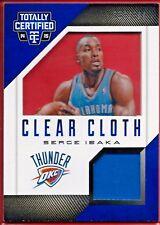 2012-13 Panini Limited Serge Ibaka GWM Patch /199 Clear Cloth 38 Toronto Raptors