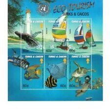 Turks and Caicos - 2002 - Eco Tourism - Sheet of Six - MNH