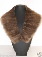 Collo VISONE Pelliccia color FANGO Stola sciarpa scarf mink fur VINTAGE E0814