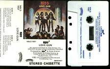 Kiss Love Gun Rare Blue Letter USA Cassette White Tape no barcode