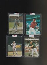 Broder Cards Pre 1990 Lot of 4 Pete Rose Seaver Ripken Canseco