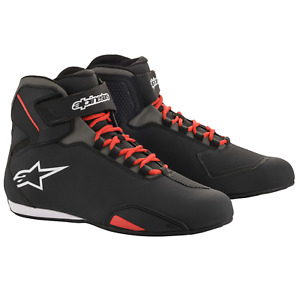 Alpinestars Sektor Motorcycle Motorbike Shoes - Black/Red (13)