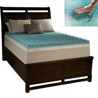 Reversible Memory Foam Mattress Topper Pad Full Size 3 Inch Cooling Gel Support