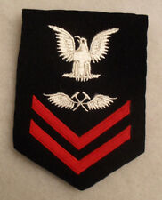 WWII USN AVIATION METALSMITH ON BLUE VARIANT WITH THINNER FELT CHEVRONS