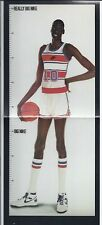 1983 NIKE POSTER CARD MANUTE BOL GROWTH CHART - Not Full Size Poster!